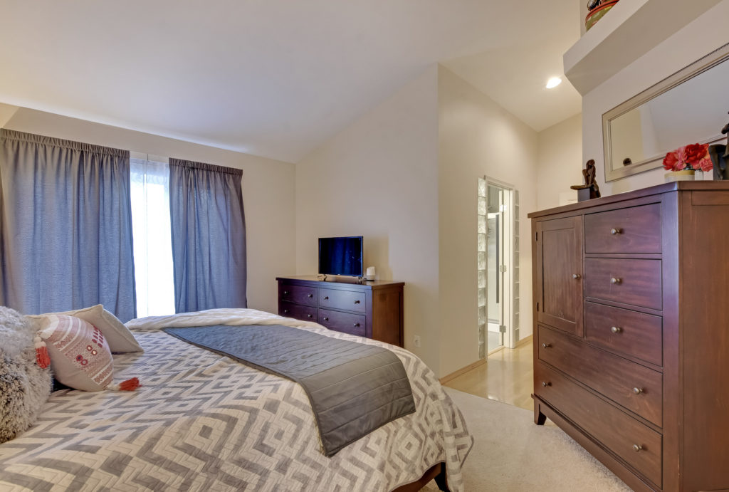 captivating blue bedroom | Captivating Fife Heights Home | Jenny Wetzel Homes