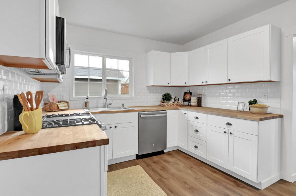 Butcher Block Kitchen Hutch : Renovated Bungalow Home ? Tacoma, WA Jenny Wetzel Homes